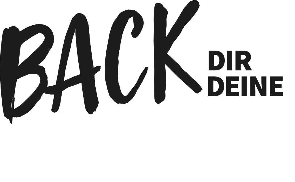 Logo Schwarzweiß Back dir deine Zukunft